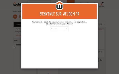 Screenshot of Support Page weldom.fr - Support - Accessoire de lampe - Accessoire luminaire - Luminaire - produits et services - captured Oct. 28, 2017