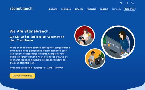 Screenshot of Jobs Page stonebranch.com - Careers | Stonebranch - captured June 17, 2017