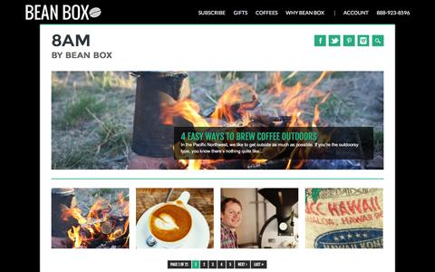Screenshot of Blog beanbox.co - 8AM - The Coffee News Blog | Bean Box - captured April 14, 2016
