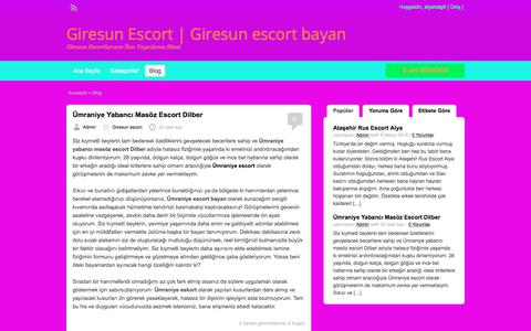 Screenshot of Blog giresuntempotv.com - Blog | Giresun Escort | Giresun escort bayan - captured July 11, 2018