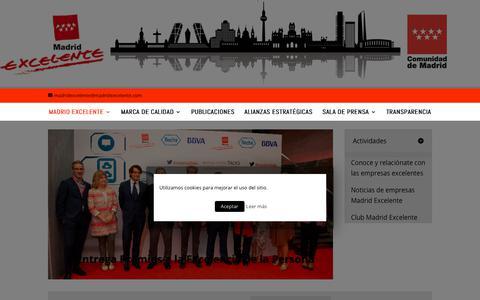Screenshot of Home Page madridexcelente.com - Madrid excelente | En Madrid la Calidad tiene 7 estrellas - captured Nov. 15, 2018
