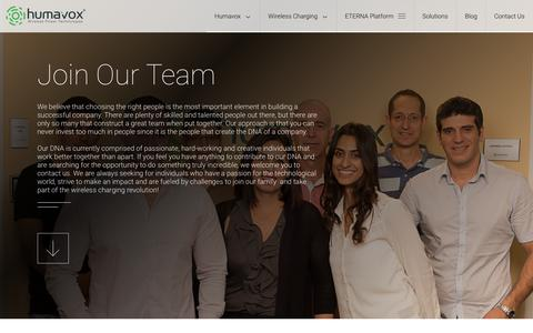 Screenshot of Jobs Page humavox.com - Join Us - Humavox - captured Dec. 6, 2015