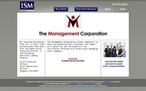Screenshot of Team Page independentstocks.com - The Management Corporation - captured Oct. 6, 2014