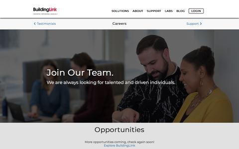 Screenshot of Jobs Page buildinglink.com - BuildingLink - captured Sept. 13, 2019