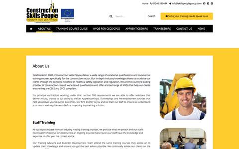 Screenshot of About Page constructionskillspeople.com - About Us - Construction Skills People - captured Nov. 10, 2016