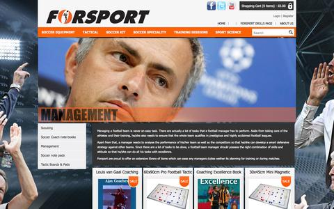 Screenshot of Team Page forsport.co.uk - Management - Football Resources For Coaches, Teams And Players - Forsport - captured Sept. 26, 2014