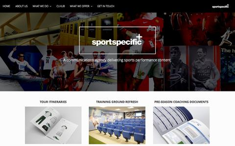 Screenshot of Home Page sport-specific.co.uk - Sport Specific - captured Oct. 1, 2014