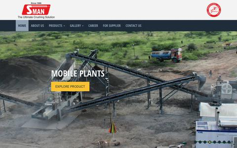 Screenshot of Home Page shaktimining.com - Mining & Material Handling Equipment Manufacturers In India - captured Oct. 18, 2018