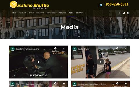 Screenshot of Press Page sunshineshuttle.com - Media - Sunshine Shuttle - captured Oct. 18, 2018