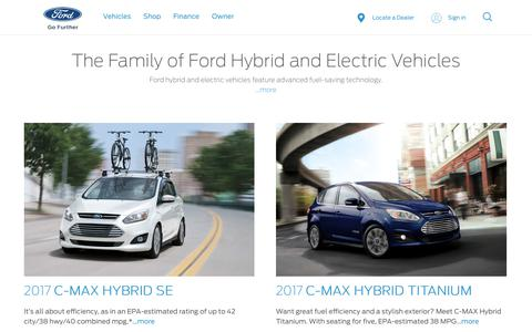 New Hybrids, Electric Vehlcles (EVs) & Plug-Ins| Find the Best Ford® Vehicle for You | Ford.com