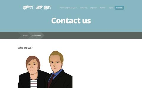 Screenshot of Contact Page openairquiz.com - Contact us | Open Air Quiz - captured Sept. 30, 2014