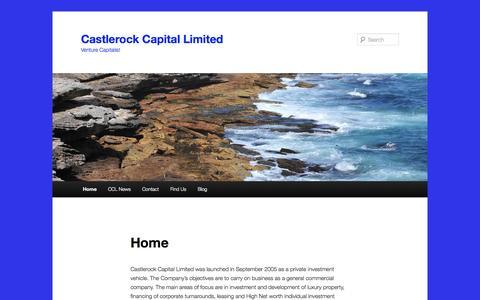 Screenshot of Home Page castlerock-capital.com - Castlerock Capital Limited | Venture Capitalist - captured Oct. 2, 2014