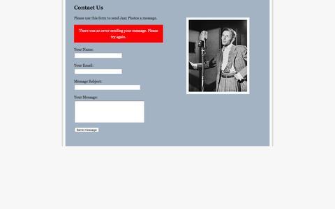 Screenshot of Contact Page jazzphotos.com - Jazz Photos : Contact Us - captured June 15, 2016