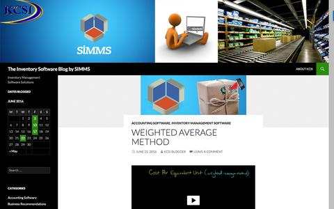 Screenshot of Blog simmssoftware.com - KCSI, the makers of SIMMS Inventory Management software - captured June 28, 2016