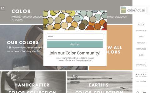 Screenshot of Home Page yolocolorhouse.com - No VOC Paint Colors • Colorhouse - captured Oct. 1, 2015