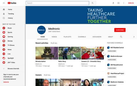 Medtronic - YouTube - YouTube