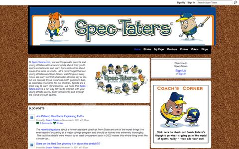 Screenshot of Home Page spec-taters.com - Spec-Taters - captured Oct. 6, 2014
