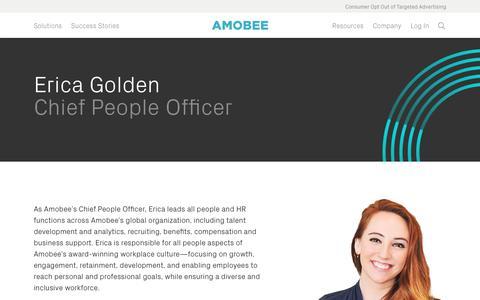 Screenshot of Team Page amobee.com - Erica Golden — Amobee - captured Nov. 18, 2019