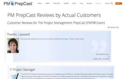 PM PrepCast Reviews 2016 : Read what REAL Customers say