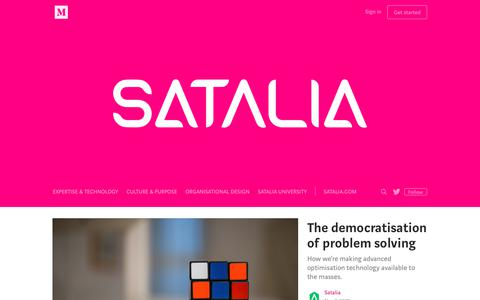 Screenshot of Blog satalia.com - Satalia - captured July 27, 2018