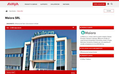 Screenshot of Case Studies Page avaya.com - Miaora SRL IT - Avaya - captured May 3, 2018