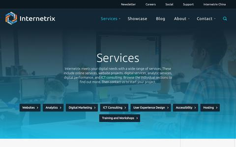 Screenshot of Services Page internetrix.com.au - Services | Internetrix - captured Sept. 19, 2018