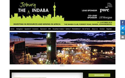 Screenshot of Home Page joburgindaba.com - Home » JoburgIndaba - captured Dec. 20, 2018