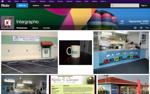 Screenshot of Flickr Page flickr.com - Flickr: Intergraphic's Photostream - captured Oct. 23, 2014