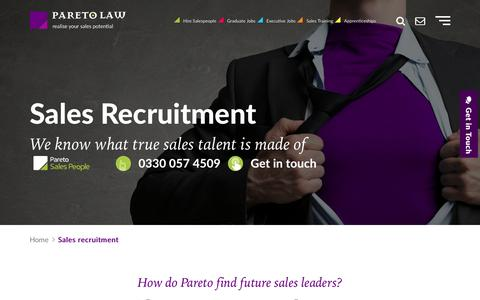 Sales Recruitment - Hire the Best Salespeople | Pareto.co.uk