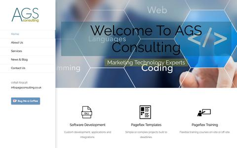 Screenshot of Home Page agsconsulting.co.uk - Home - AGS Consulting - captured Dec. 9, 2018