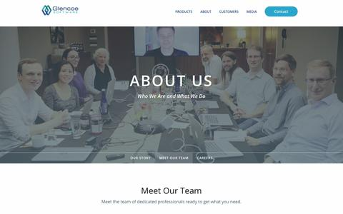 Screenshot of Team Page glencoesoftware.com - Meet the Team | Glencoe Software, Inc. - captured July 19, 2018