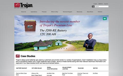 Screenshot of Case Studies Page trojanbattery.com - Case Studies | Trojan Battery Company - captured Nov. 15, 2016