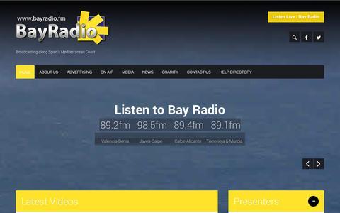 Screenshot of Terms Page bayradio.fm - Bay Radio  Broadcasting along Spain's Mediterranean Coast - captured Oct. 5, 2014