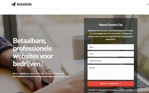 Screenshot of Home Page webaware.nl - Home - Webaware - captured Oct. 25, 2017