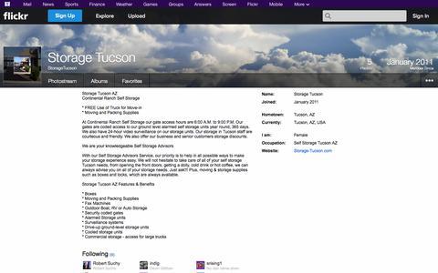 Screenshot of Flickr Page flickr.com - Flickr: StorageTucson - captured Oct. 25, 2014