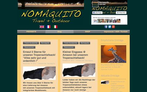 Screenshot of Blog Press Page nomaquito.com - Nomaquito Outdoor Tropenschlafsack Hüttenschlafsack Moskitoschutz   Blog - captured Dec. 6, 2016