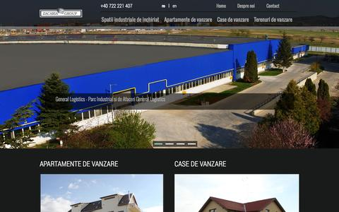 Screenshot of Home Page zacaria.ro - Home - captured Oct. 8, 2014