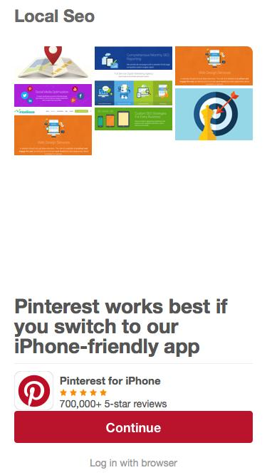 Screenshot of  pinterest.com - Local Seo on Pinterest