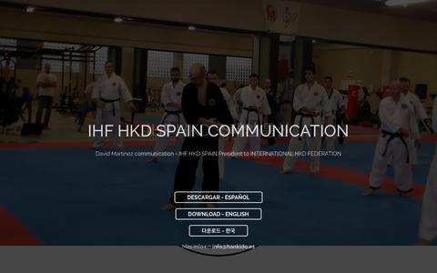 Screenshot of Home Page hankido.es - IHF HKD España - Hapkido / Hankido / Hankumdo - captured May 30, 2016
