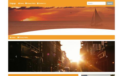 Screenshot of Privacy Page exigogs.com - Exigogs - captured Nov. 11, 2018