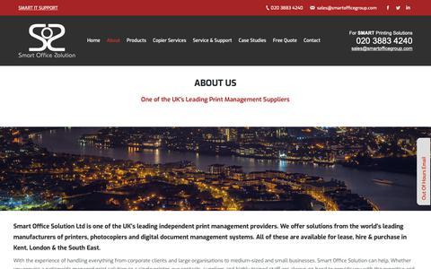Screenshot of About Page smartofficegroup.com - Smart Office Solution | Kent | London | Print Management Supplier - captured Oct. 20, 2018