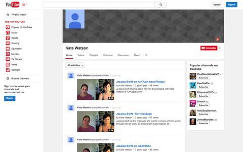 Screenshot of YouTube Page youtube.com - Kate Watson  - YouTube - captured Oct. 23, 2014