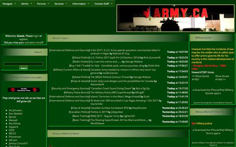 Screenshot of Home Page army.ca - Army.ca - captured Oct. 8, 2017