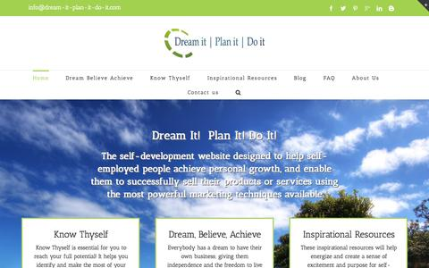 Screenshot of Home Page dream-it-plan-it-do-it.com - Dream it Plan it Do it | Self-Employment - captured Nov. 22, 2015