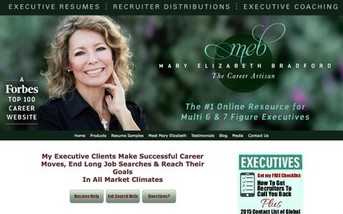 Screenshot of Testimonials Page maryelizabethbradford.com - Increase Your Salary, Enhance Your Market Appeal, and Achieve Results in Your Job Search Without Working Harder - captured Jan. 23, 2016