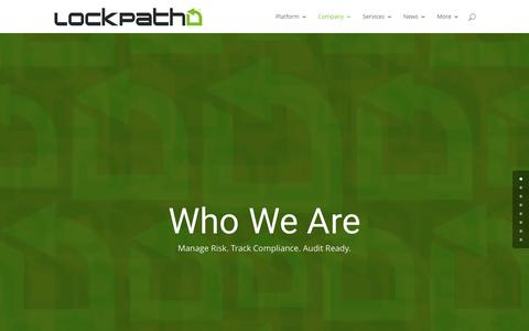 Screenshot of About Page Team Page lockpath.com - About LockPath: Creators of the Keylight Platform - LockPath.com - captured April 6, 2017