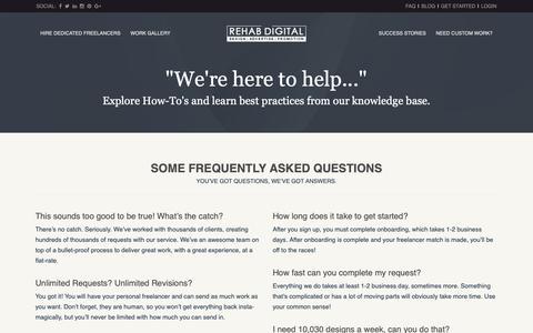 Screenshot of FAQ Page rehabdigital.com - FAQ | REHAB DIGITAL - captured Oct. 29, 2018