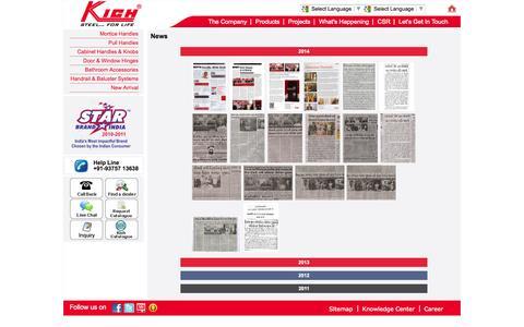 Screenshot of Press Page kichindia.com - WELCOME TO KICH INDIA - captured Oct. 6, 2014