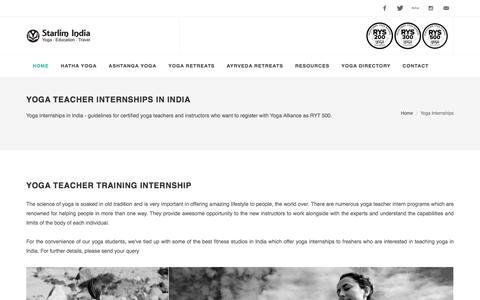 Yoga Internships India, Yoga Internships Abroad, Yoga Alliance, RYT 500 Registrations