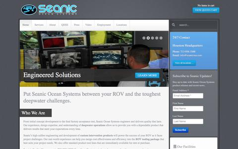Screenshot of Contact Page seanicusa.com - Put Seanic Ocean Systems between your ROV and the toughest deepwater challenges.   Seanic Ocean Systems - captured Jan. 20, 2016